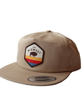 Midwest Buffalo Hexagon Flatbill Hat