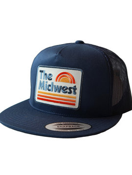 Midwest Navy Blue Snapback Hat
