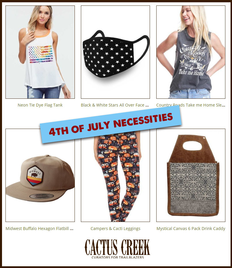 4th of July Necessities Clothes, Hats, Scarves + Masks
