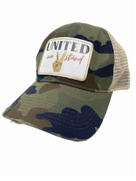 United We Stand Camo Ball Cap