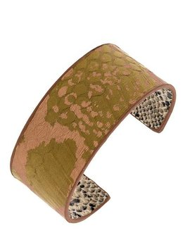 Mix Color Cuff Bracelet Green