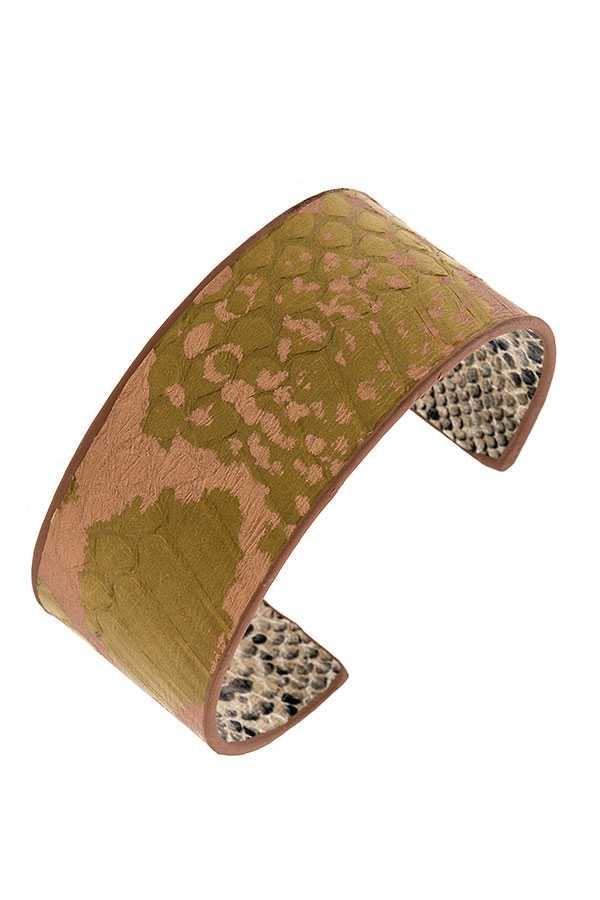Mix Color Cuff Bracelet Green