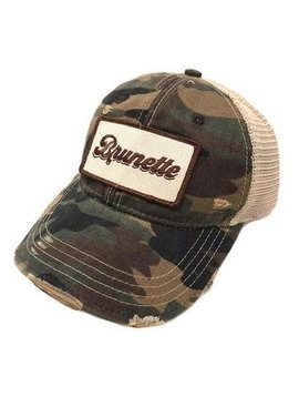 Brunette Camo Patch Cap