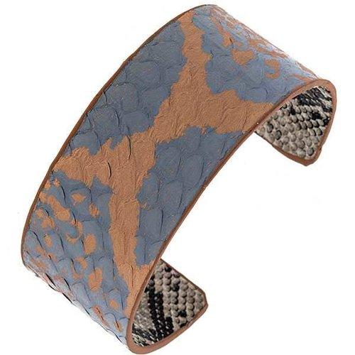 Mix Color Cuff Bracelet Blue