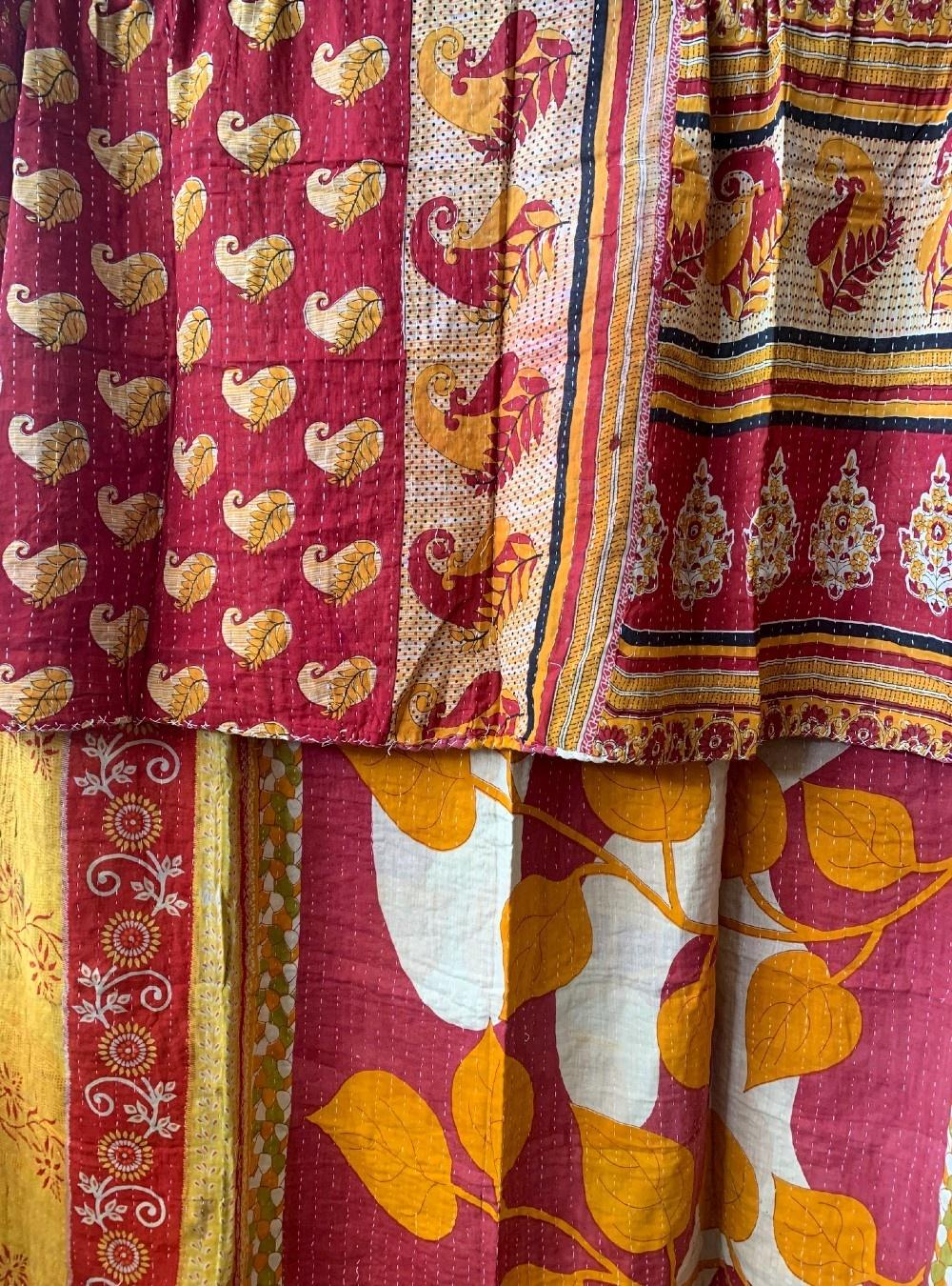 Kantha Sari Throw #269