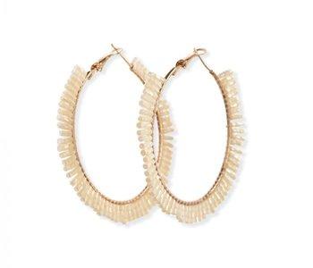 Pearl Gala Hoop Earring
