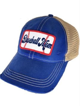 Baseball Mom Blue Patch Cap