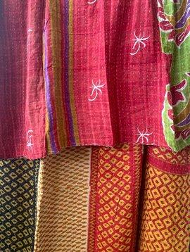 Kantha Sari Throw #272