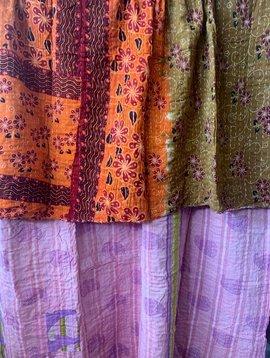 Kantha Sari Throw #270