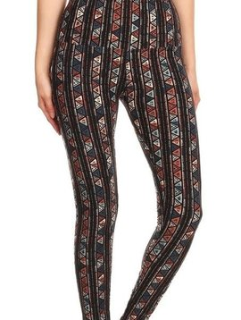 Aztec Stripe Yoga Band Legging