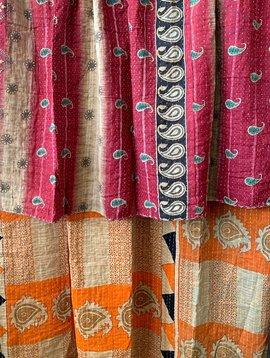 Kantha Sari Throw #266