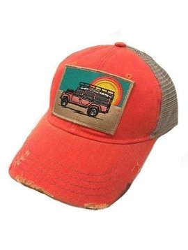 Sunset Land Rover Patch Cap Coral