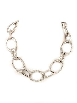 Burnish Silver Chain Link Necklace