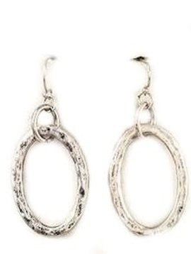 Burnish Silver Chain Link Earring