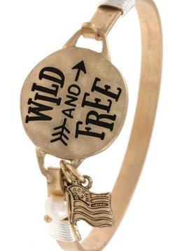 Wild & Free Gold Bangle Bracelet