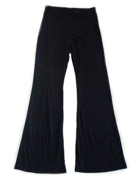 Black DTY Flare Leg Pant