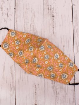 Orange Daisy Cotton Mask