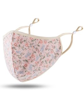 Pale Pink Floral Cotton Mask