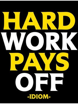 Hard Work Pays Off Inspirational Card