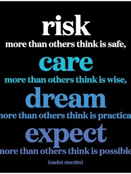 Risk Care Dream Expect Inspirational Card