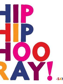 Hip Hip Hoo Ray Inspirational Card