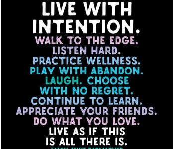 Live with Intention Inspirational Card