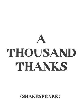 A Thousand Thanks Inspirational Card