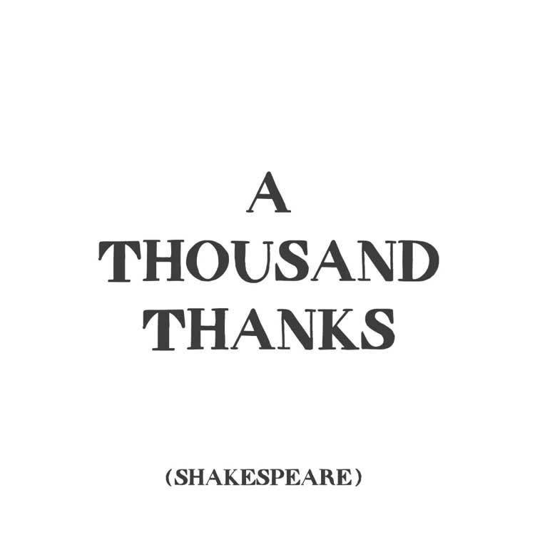 A Thousand Thanks Inspirational Card