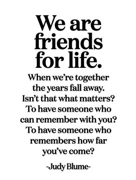 We are Friends for Life Inspirational Card