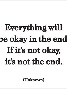 Everything will be Okay Inspirational Card