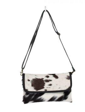 Ebon Cowhide Cross-body Bag