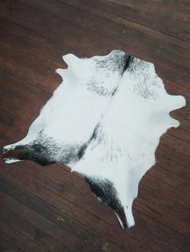 White & Black Goat Hide 252