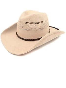 Ivory Toyo Straw Cowboy Hat