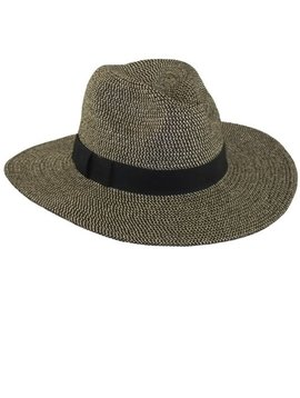 Black Tweed Panama Hat