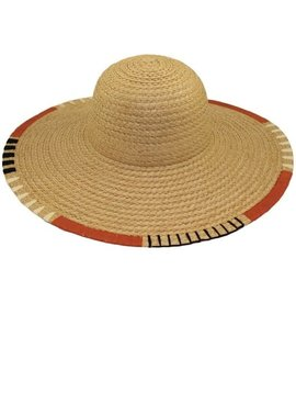 Orange & Black & Ivory Stripe Sun Hat
