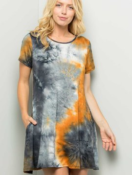 Sunflower Smoke Tie Dye Dress