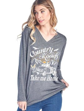 Country Roads Long Sleeve T