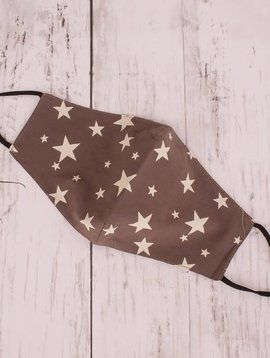 Chocolate Star Cotton Mask