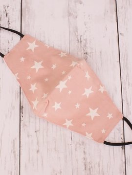 Peach Star Cotton Mask