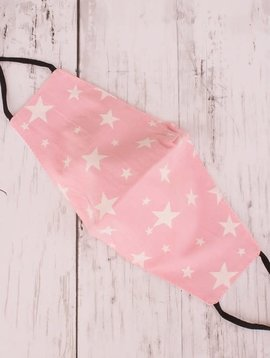 Pale Pink Star Cotton Mask