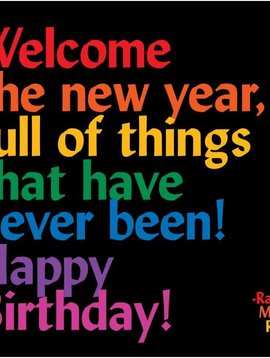 Welcome the New Year Inspirational Birthday Card