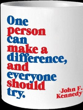 One Person Can Make a Difference Inspirational Mug