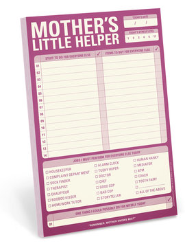 Mother's Little Helper Note Pad