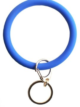 Blue Silicon Key Ring Bracelet
