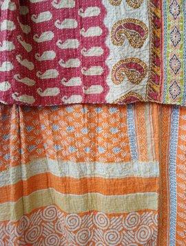 Kantha Sari Throw #307