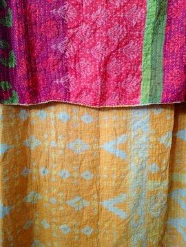 Kantha Sari Throw #299