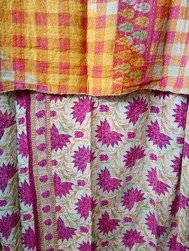 Kantha Sari Throw #309