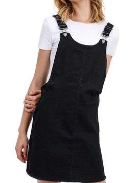 Black Denim Overall Dress