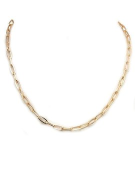 Gold Small Link Chain Necklace