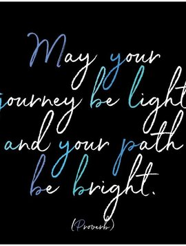 May Your Journey Be Light Inspirational Card